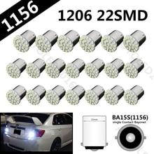 10pcs Car Led Lamp P21W 1156 BA15S 22 smd 1206 Brake Lights Turn Signals Headlights Reverse Lamps White  22SMD 22led 3020 DC12V