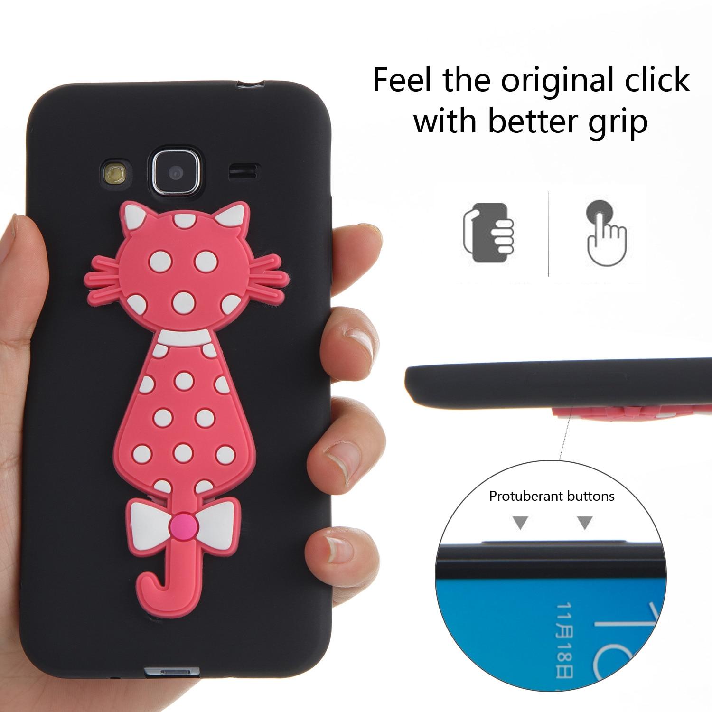 3D Cat Silicone Cartoon Soft Kryty Shell Bag Phone Case For Samsug Samsung Sumsung Galaxy J3 2016 J 310 J310F