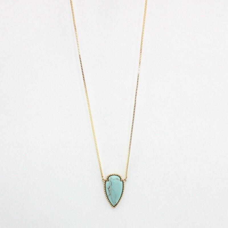 9ef51fb54419 Longway personalidad bohemia collares y colgantes para las mujeres de la  vendimia del color del oro granos de la turquesa collar largo de la joyería  ...