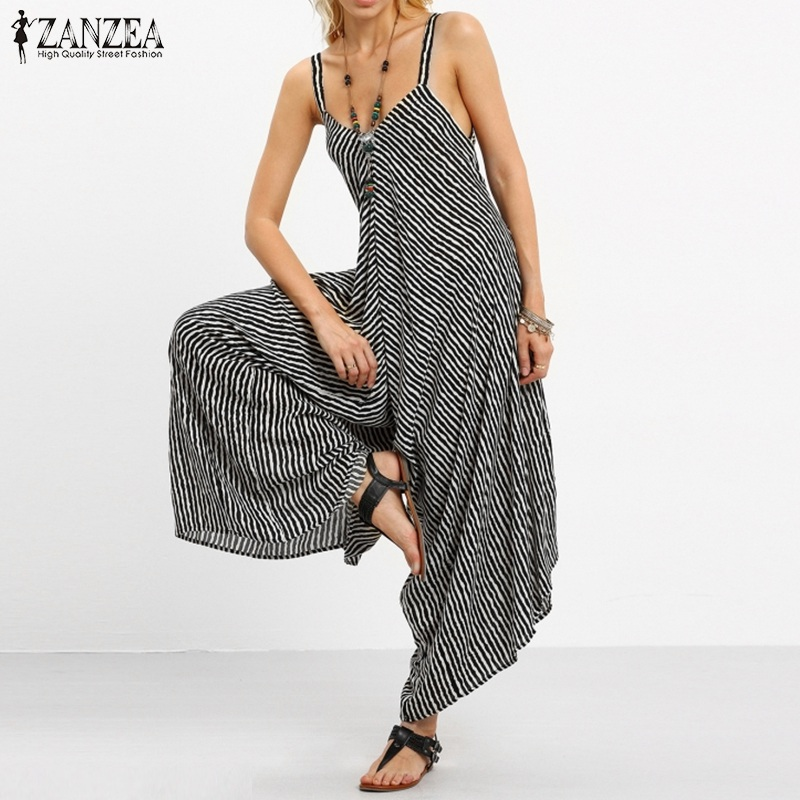 Celmia Vintage Women Long Jumpsuits 2019 Summer Sleeveless Rompers Backless Casual Strap Playsuit Harem Pants Plus Size Overalls Elegant And Sturdy Package Women's Clothing