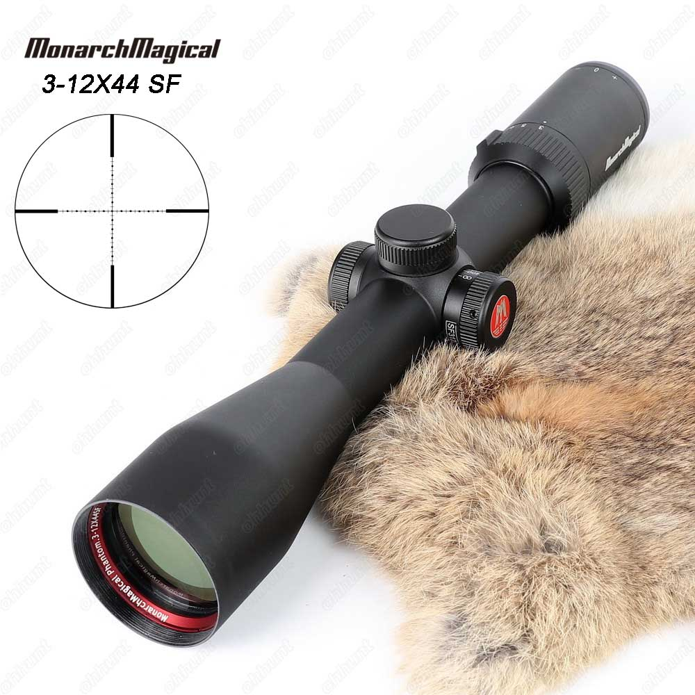 MonarchMagical 3-12X44 SF Hunting Riflescope Mil-dot Side Parallax Tactical Optical Sights with Picatinny or Dovetail Rings tactical hunting shooting riflescope optical 3 9x32 aolwq 1inch tube mil dot compact with sun shade and qd rings for hunting