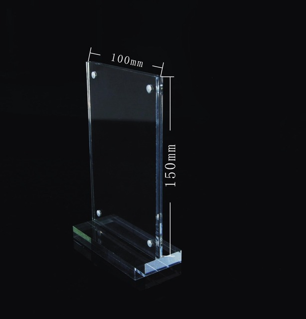 crylic a6 table tent sided magnetic menu boards advertising display
