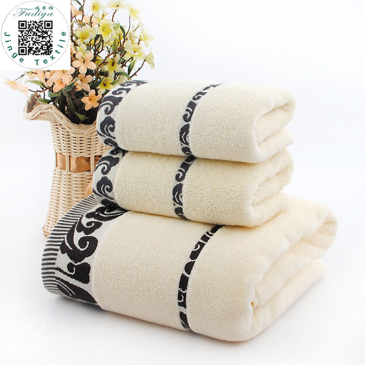 New Fashion (3pcs/Lot) Bath Towel Set 1*70cm*140cm & 2*34cm*74cm 100% Cotton Bath Towel Piece Set Face Towel Wholesale 3 Colors
