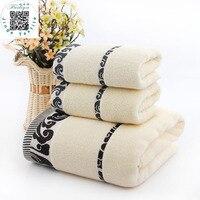New Fashion 3pcs Lot Bath Towel Set 1 70cm 140cm 2 34cm 74cm 100 Cotton Bath