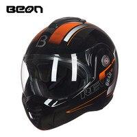 BEON B 702 Новый Флип ап мотоцикл шлем модульный Открытый полный уход за кожей лица шлем мото Casque Casco Motocicleta Capacete шлемы ECE