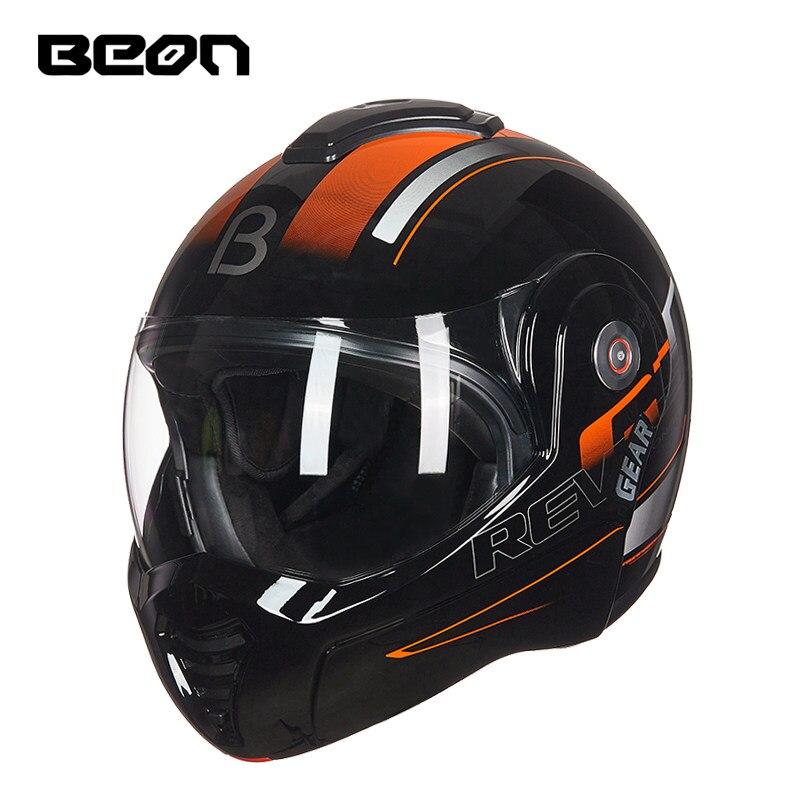 BEON B-702 nouveau Casque de Moto rabattable Casque modulaire ouvert intégral Casque de Moto Casque Casco Motocicleta Capacete casques ECE