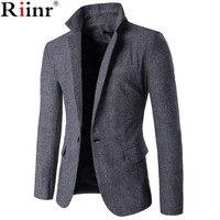 Riinr 2017 New Arrival Spring Brand Clothing Mens Masculine Blazer Fashion Slim Fit Suit Blazer Men