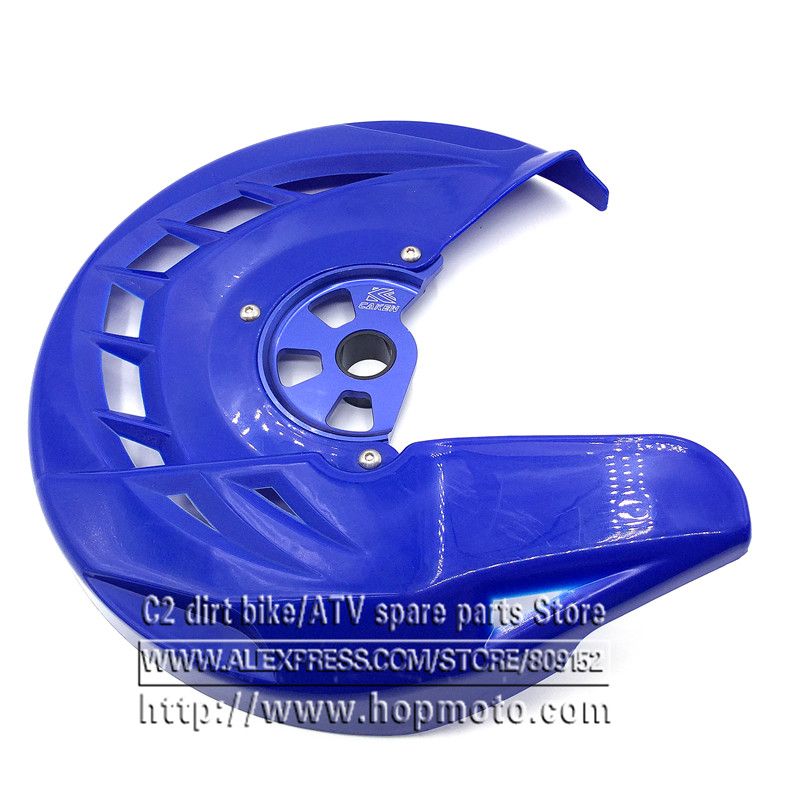 CNC Blue Billet Front Brake Disc Cover Protector YZ125/240 04 14 YZF250/450 04 12 14 16 WR250/450/F04 12 WR125/250 04 14
