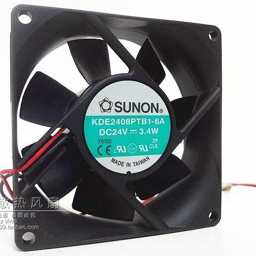 8025 24 v 3,4 Watt 8 mt 8 cm gehäuselüfter KDE2408PTB1 große luftvolumen frequenzumrichter