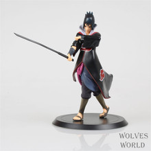 WVW 18CM Hot Sale Anime Heroes Naruto Sasuke Model PVC Toy Action Figure Decoration For Collection Gift Free shipping