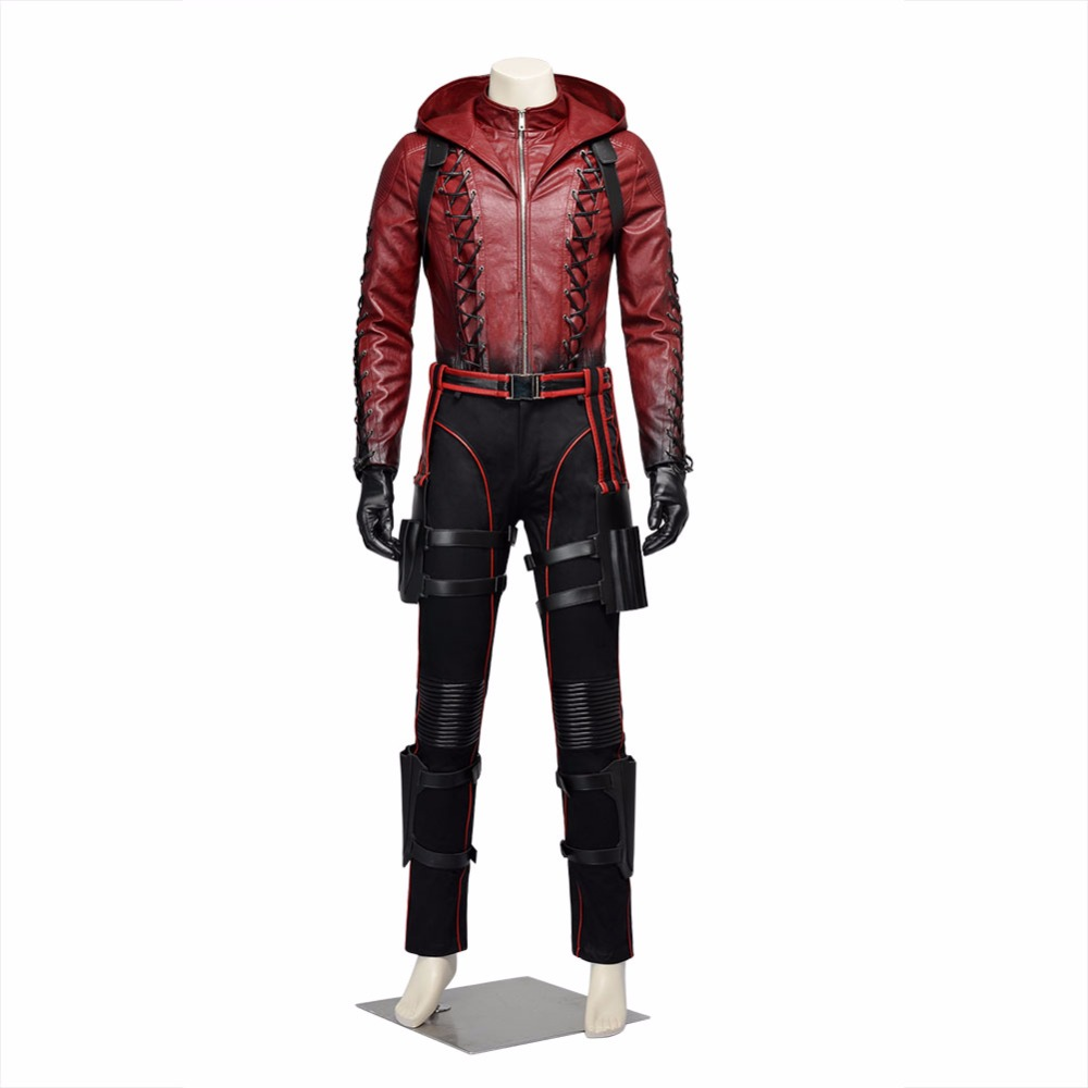 Flecha Roja Cosplay traje conjunto Oliver Queen trajes - a310