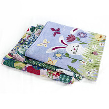 Bunny Rabbit Easter Eggs Table Runners Modern Cotton linen Tablecloths Party Decoration Table Runner Easter Decorations for Home