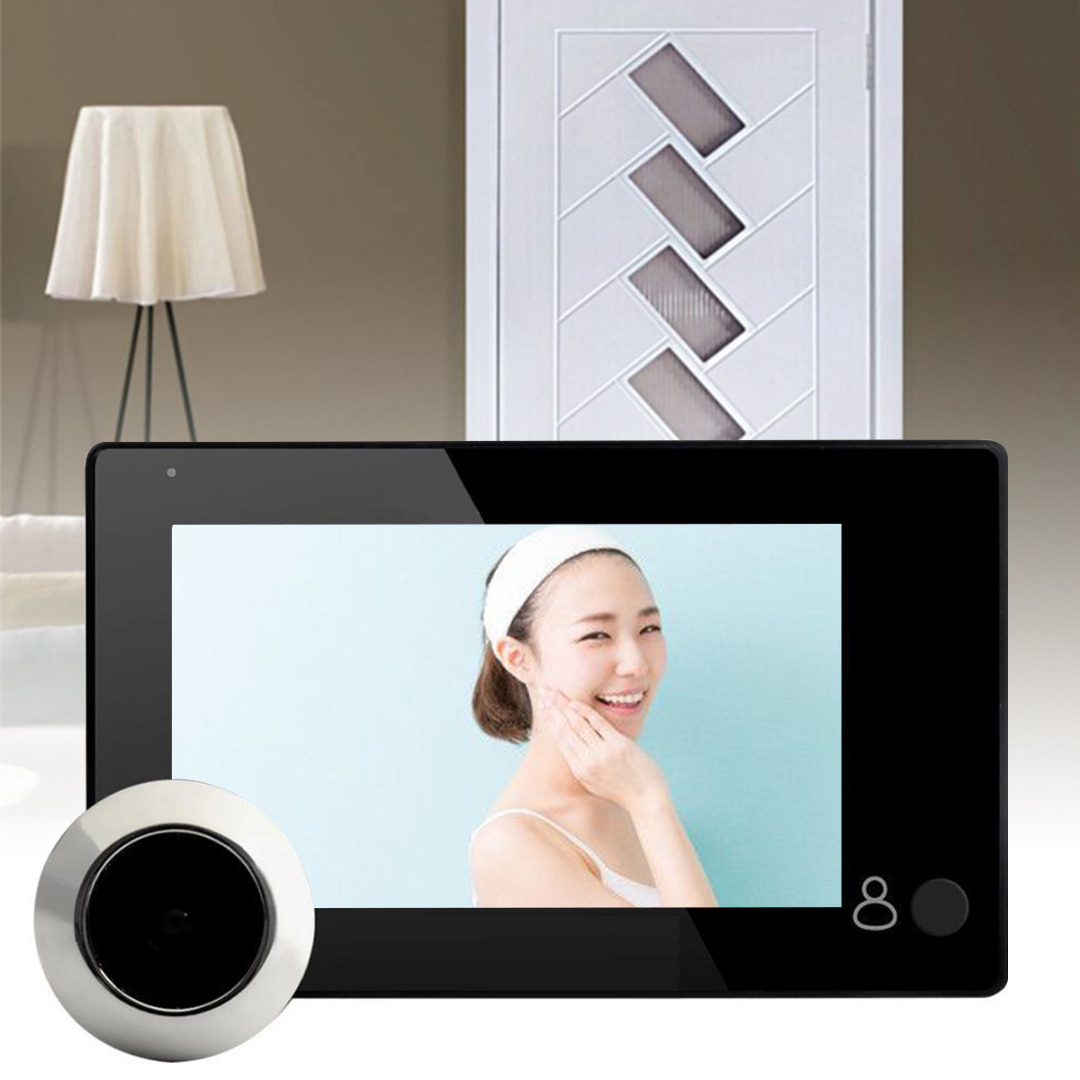 4.3 inch Door Peephole 145 Degree LCD Video Digital Peephole Door Viewer Door Eye Camera Security Monitoring Door Peephole