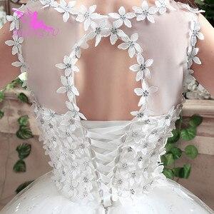 Image 5 - AIJINGYU 2021 أبيض جديد حار بيع ثوب كرة رخيصة الدانتيل حتى الظهر فساتين العروس الرسمية فستان الزفاف WK132