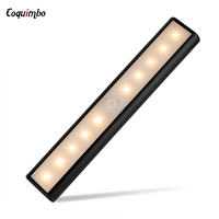 LED Night Light Wireless Wall Lamp With Motion Sensor Sensor Light Auto PIR Detector USB Under