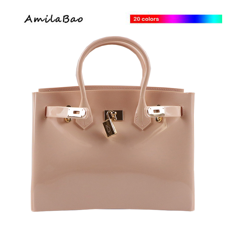 luxury women bags women messenger bags fashino Shoulder Bags New Arrive famous PVC Silicone jelly handbags with scarf ME802