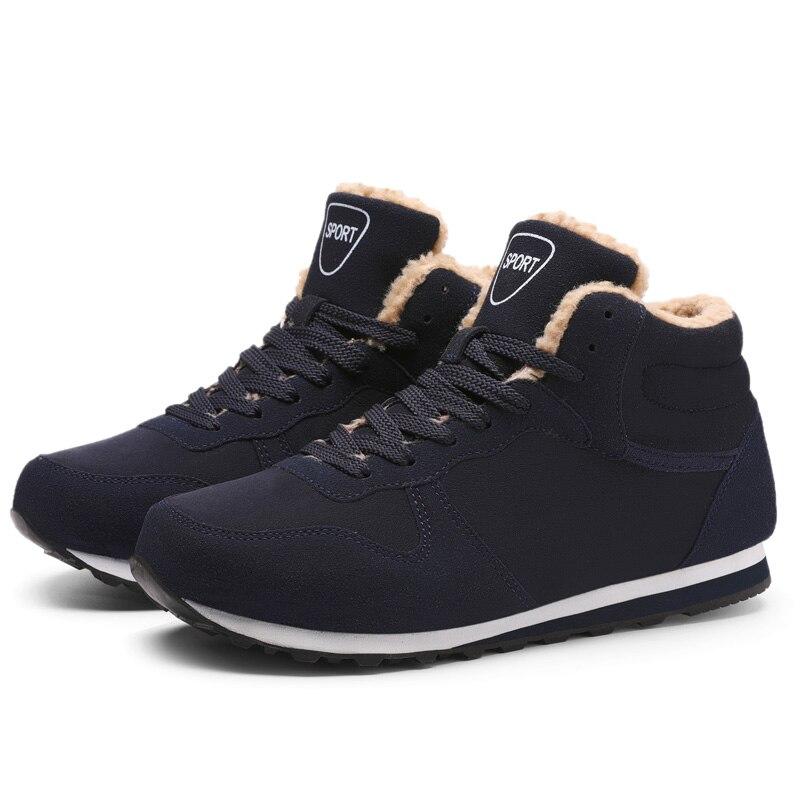 En Air Grande Coton Sneakers blue Black Haute Homme Ajouter Casual Velours Hommes Plein Chaudes Chaussures Taille Marche Flock qw4POI