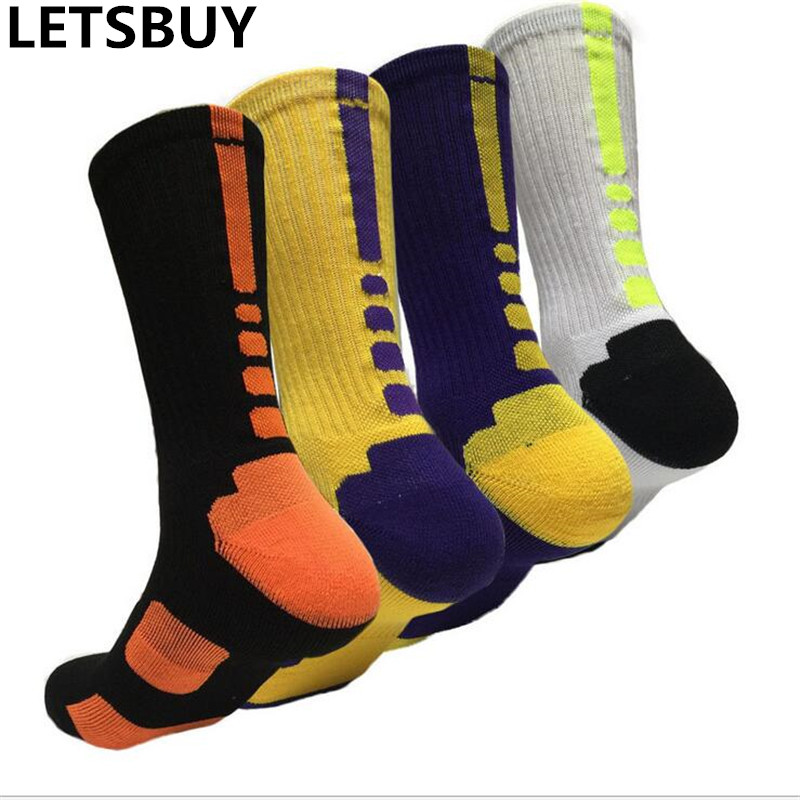 LETSBUY mens sports socks candy colorful compressi...