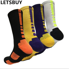 LETSBUY мужские спортивные носки конфеты красочные сжатия профессиональный баскетбол носок человек футбол бейсбол запуск туризм отдых