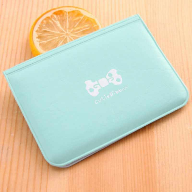 Sweet Bow Letter Printed Credit Card Holder Women Girls PU Leather Business ID Card Solid Wallet Bag tarjetero 2019 Fashion