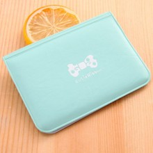 Sweet Bow Letter Printed Credit Card Holder Women Girls PU Leather Business ID Solid Wallet Bag tarjetero 2019 Fashion