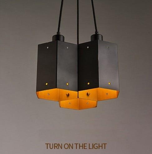 Amerikanischen Loft Stil LED Eisen Droplight Einfache Vintage Anhänger  Leuchten Für Esszimmer DIY Hängende Lampe Innenbeleuchtung