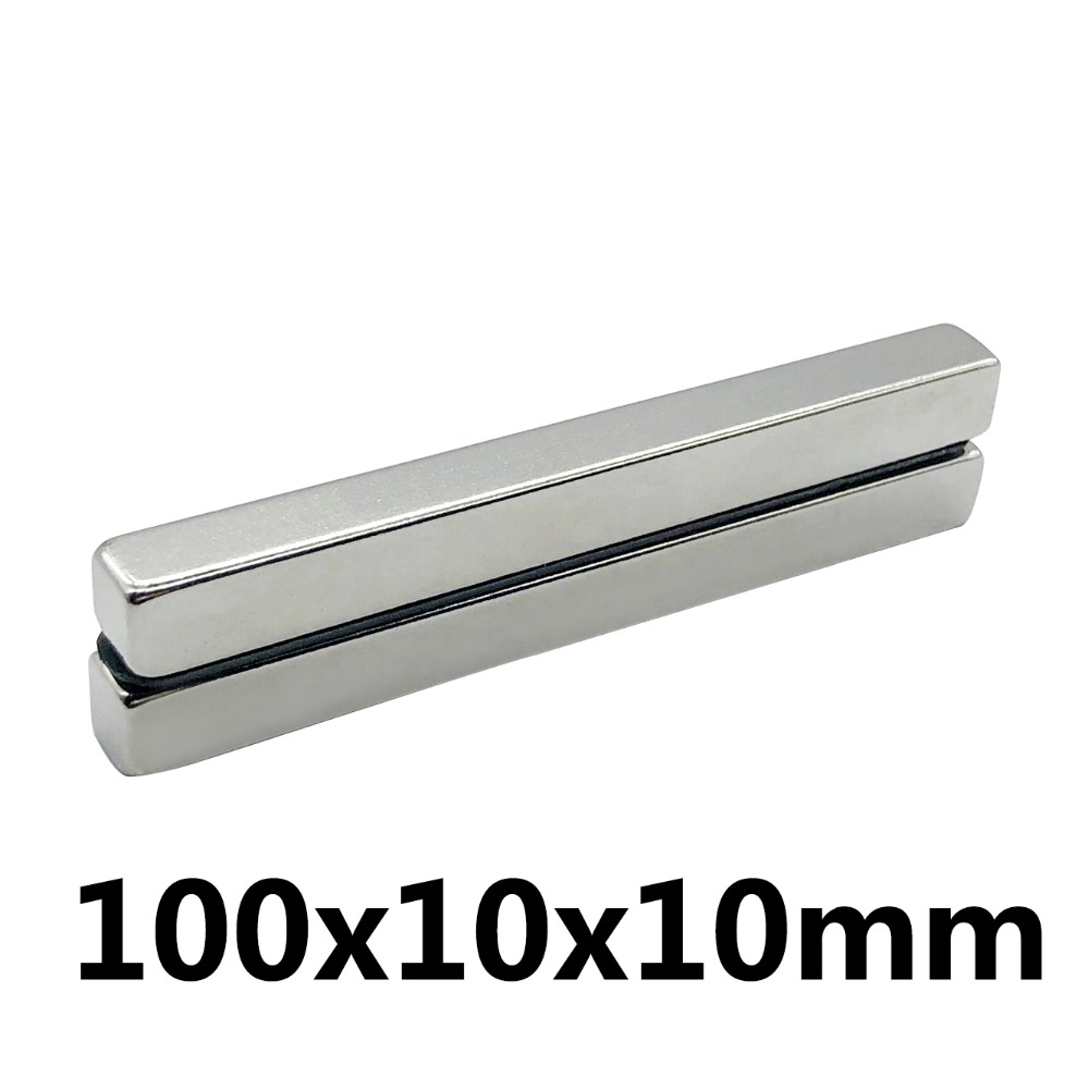 1PC 100mm x 10mm x 10mm Strong Powerful Block Square Magnet Craft Model Rare Earth 100*10*10Neodymium Permanent Magnet 100x10x101PC 100mm x 10mm x 10mm Strong Powerful Block Square Magnet Craft Model Rare Earth 100*10*10Neodymium Permanent Magnet 100x10x10
