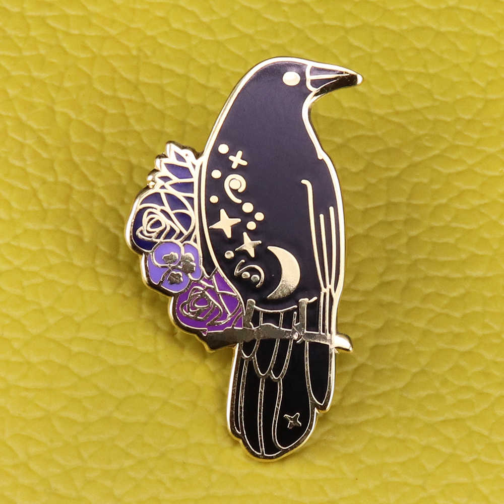 Raven Goth Witchy Bookish Six Of Crows Pin