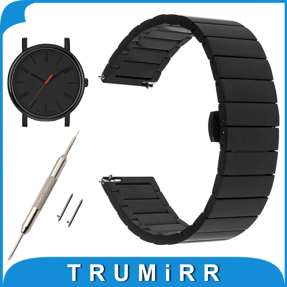 16mm 18mm 20mm Stainless Steel Watch Band for Timex Weekender Expedition Men Women Quick Release Strap Butterfly Buckle Bracelet timex часы timex tw4b03500 коллекция expedition