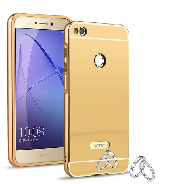 For Cover Huawei P9lite 2017 Case PRA-lx1 Gold Plating Mirror Shine Protector Phone Cases For Huawei P9 lite 2017 Cover fu308