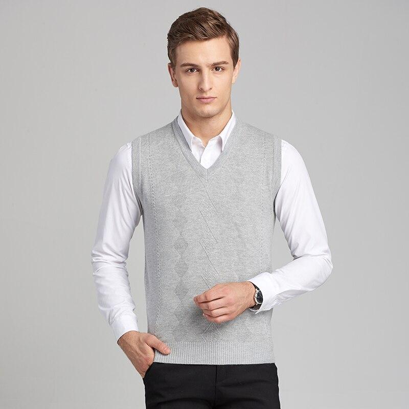 2017 Heißer Verkauf Strickweste Herbst Herren Pullover Strickpullover Männer Business Wolle Pullover Westen Plaid Gedruckt Duftendes Aroma