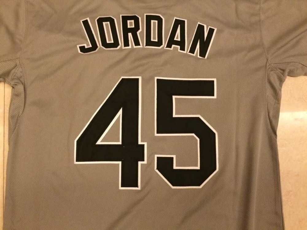 a1d2546a9da ... mens chicago white sox 45 michael jordan 2015 gray jersey on feet  images of 1ee16 7c235