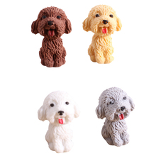 36pcs/lot kawaii dog eraser shape design pencil office school soft rubber student kids supplies art drawing wholesale