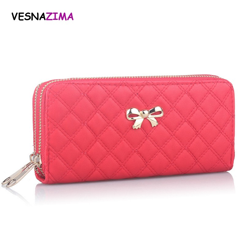 2017 Red PU Leather Women Wallet Hot Pink Wallets Ladies' Long Clutche With Coin Purse New style Card Holder Female Purse WM310Z