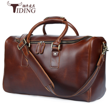 2018 Men Travel Bags Multifunction 100% Genuine Leather Bag Big Capacity Shoulder Handbag Male big bags