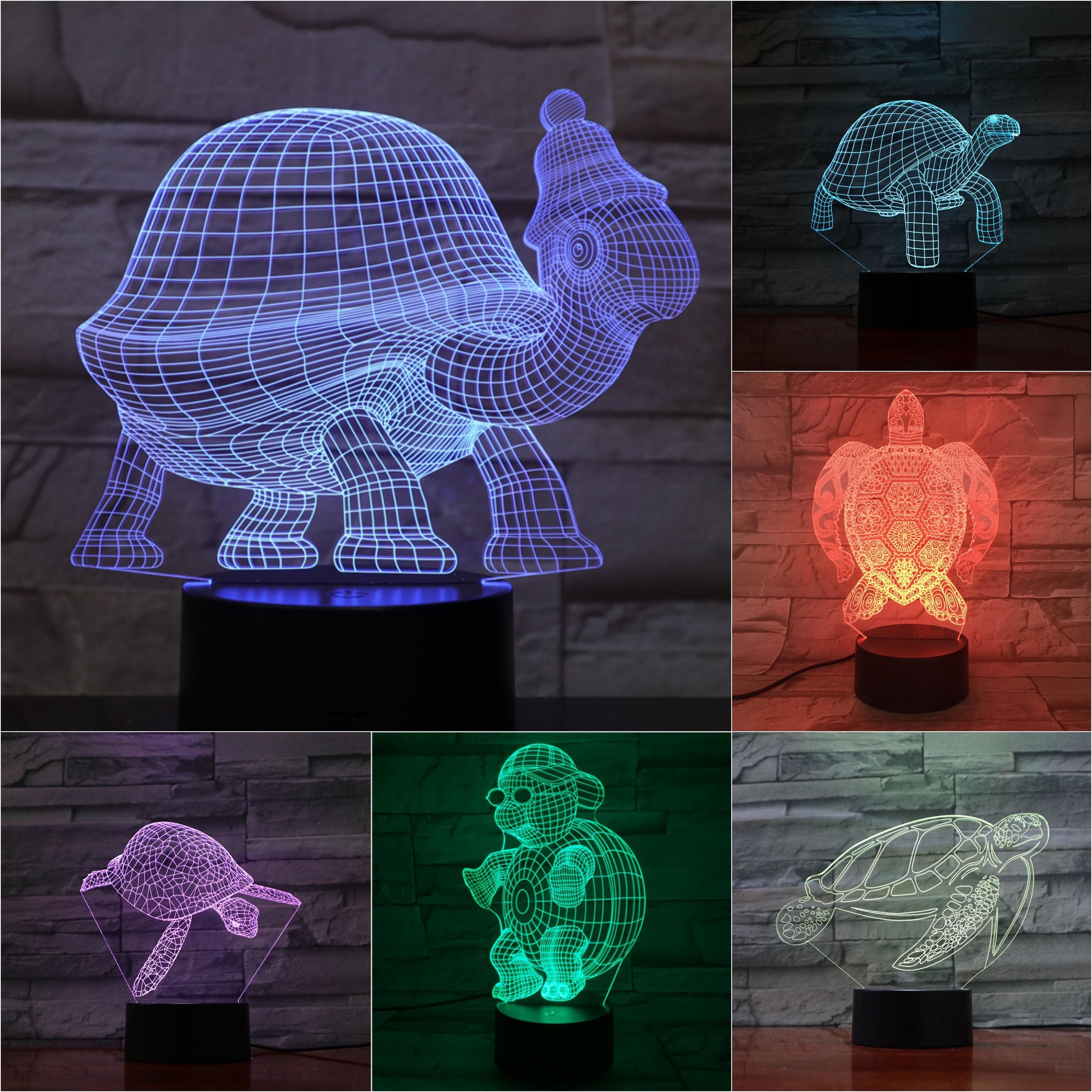 Animal Tortoise 3D Lamp Touch Sensor 7 Color Changing Decorative Lamp Children Kids Baby Kit Nightlight Turtle Led Night LightAnimal Tortoise 3D Lamp Touch Sensor 7 Color Changing Decorative Lamp Children Kids Baby Kit Nightlight Turtle Led Night Light