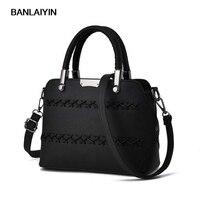 Korea High Quality Vintage Women Leather Top Handle Handbags Retro Shoulder Bags Ladies Girls Messegner Bag