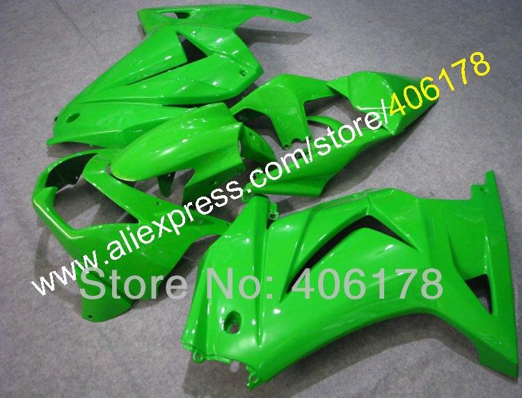 Hot Sales,Aftermarket fairing ex250 For Kawasaki ZX250R 2008 2012 Full green Motorcycle Fairings (Injection molding)