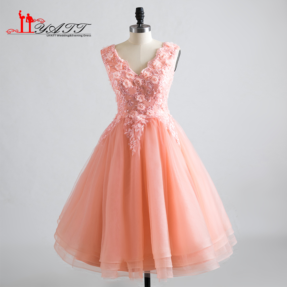 Lace short beach party bridesmaid dresses 2017 knee length for Wedding party dresses 2017