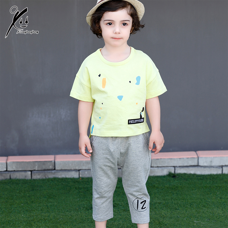 boys sport suit kids clothes children's clothing sets short sleeve pullover t shirts+pants 2017 summer tracksuits 3-7Y XDD-X8066  summer t shirts for boys cotton kids shirts dinosaur short sleeve pullover clothes v neck boy t shirt fashion children clothing