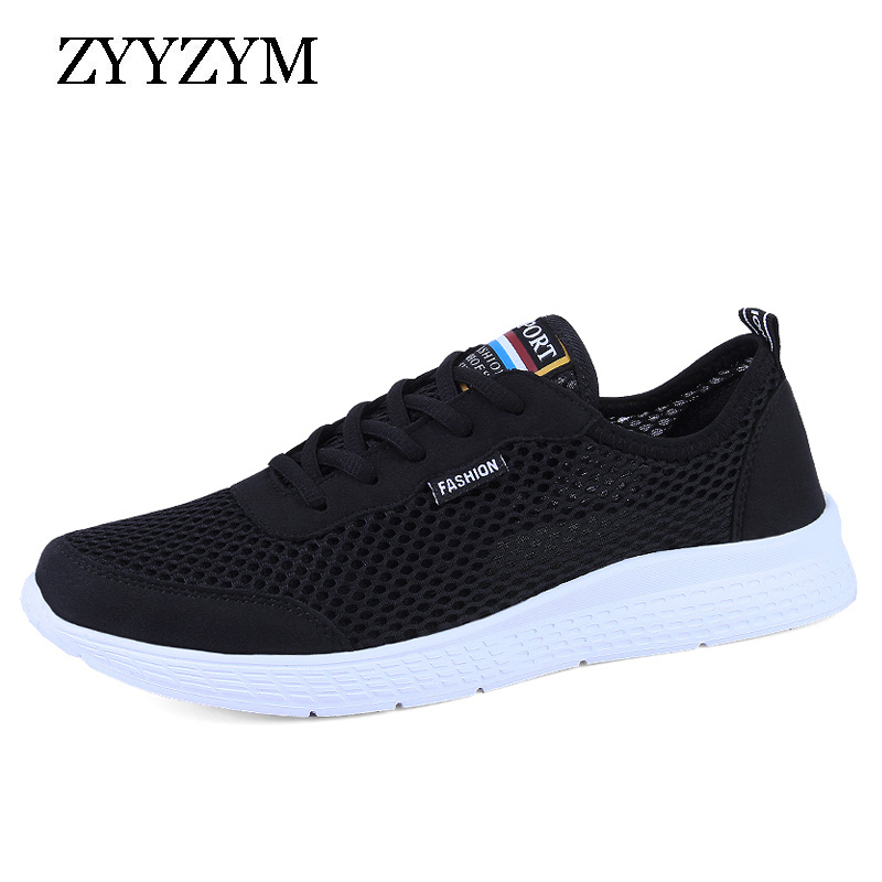 ZYYZYM Men Shoes Summer Fashion Sneakers Breathable Mesh Casual