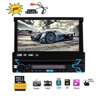 Одноместный Дин стерео с 7 дюймов цифровой HD Сенсорный экран в тире радиоприемник Поддержка Bluetooth USB/SD съемная спереди Панель