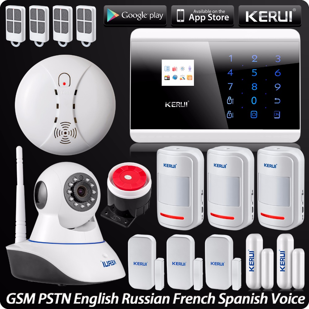 IOS Android APP Touch Screen Panel LCD Display Wireless GSM PSTN Home Security Burglar Smart Magnetic Android APP Alarm System ios android app smart control wireless gsm touch lcd shock window home secure burglar system