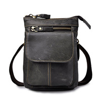 New Natural Leather Multi Function Casual Travel Bag Men S Waist Pack D Buckle Hook Bag
