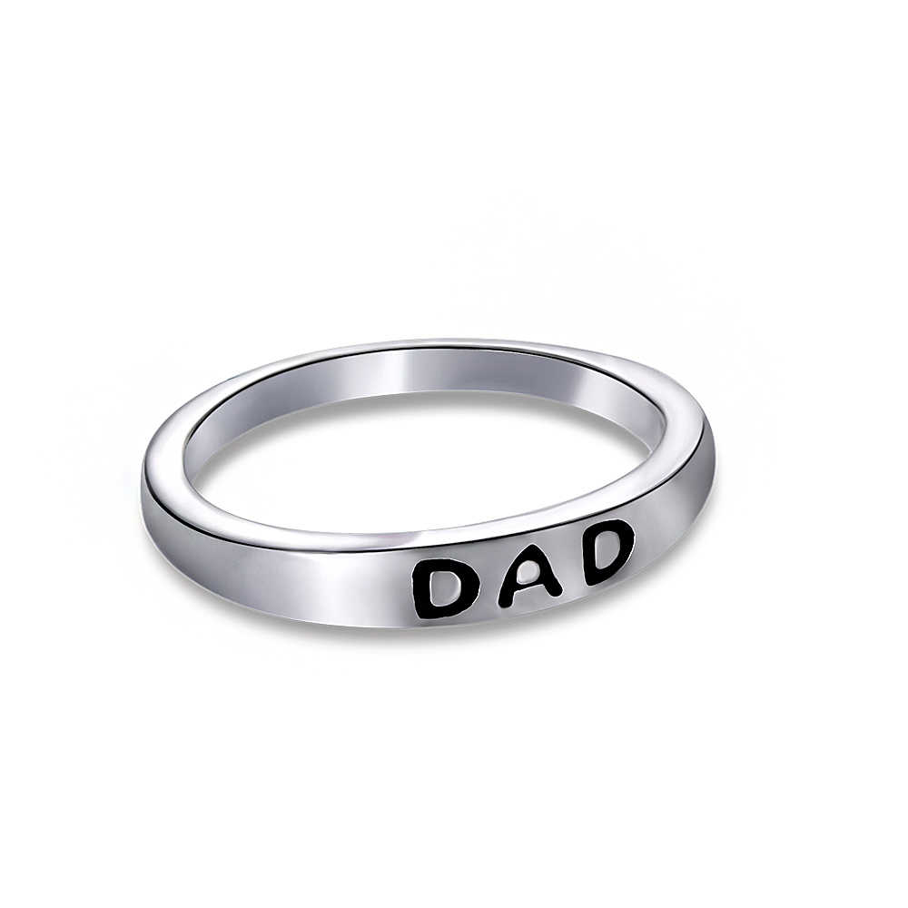 1 pc 패션 빈티지 아빠 편지 반지 매력 절묘한 우아한 남자 보석 아버지의 날 선물