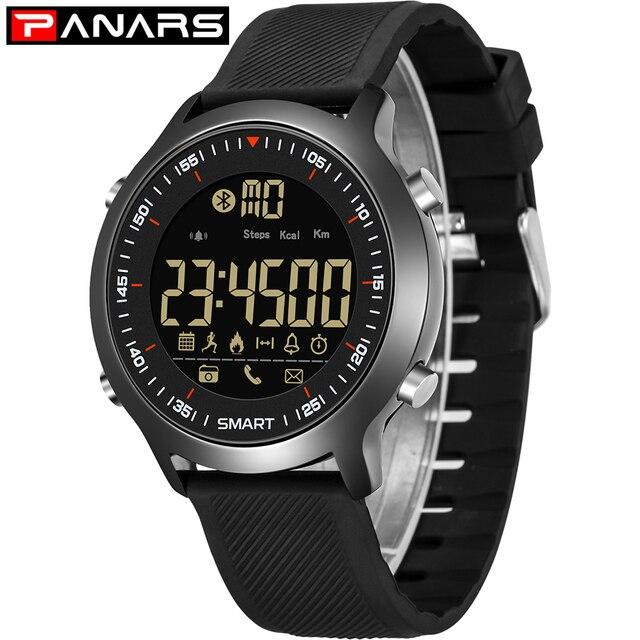 SYNOKE Digitale Slimme Horloge Mannen Stappentellers Bericht Herinnering Sport Horloge Bluetooth Horloges voor iOS Android