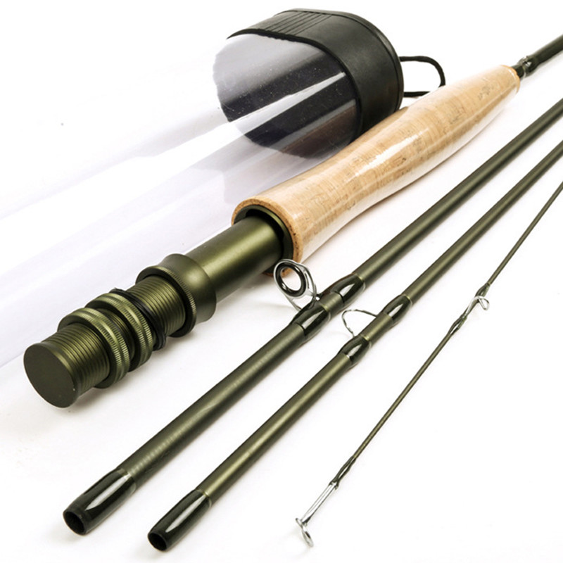 ФОТО 2.4M 6WT 4 SEC Carbon Fast Action Traveller Fly Fishing Rod