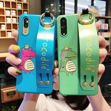 dinosaur tpu case for xiaomi mi 8 9 se lite 6 A2 redmi note 7 cover cute cartoon animals wristband holder soft silicon shel