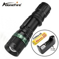 E3 1set cree led zoom flashlight Tactical torch lights Zoomable lamp lights led flashlight Headlight head light lamp