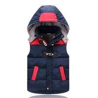 Baby Vests Children S Down Warm Vest Boys Girl Hooded Vest Winter Baby Cap Cotton Vest